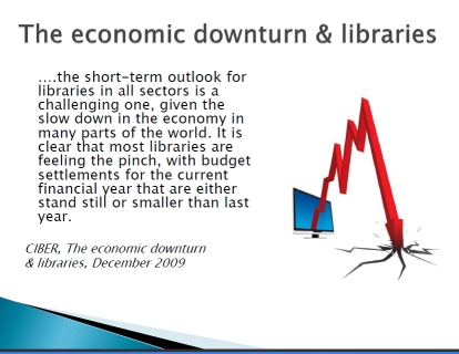Woodwood slide economic downturn and libraries
