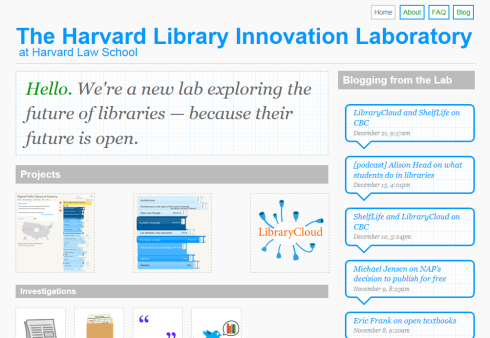 Harvard Library Innovation Laboratory