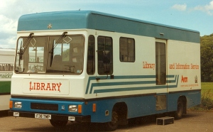 Photograph of old mobile library